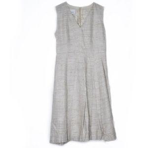 Akris Punto Silk V Neck Knit Pleated Dress 4